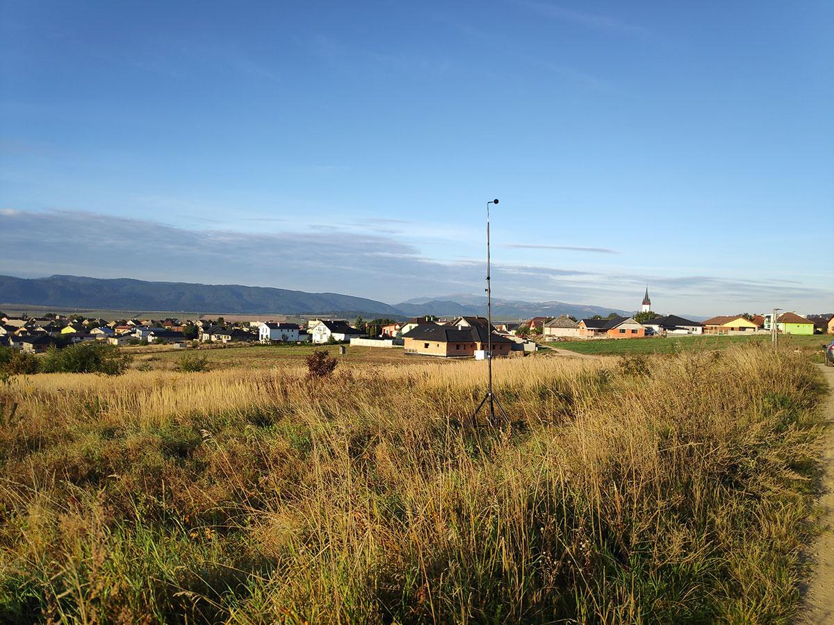 Vstupné merania hluku vplyvom D1 na pozemku budúcej výstavby