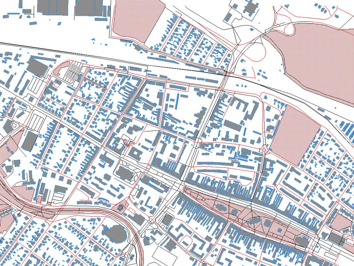 Hluková mapa vybranej lokality mestskej aglomerácie