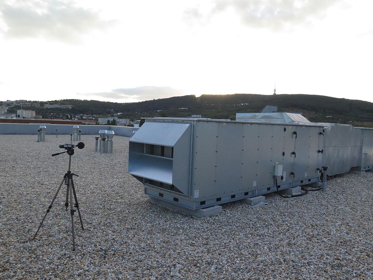 Vstupné merania pre posúdenie vplyvu hluku zo vzduchotechniky