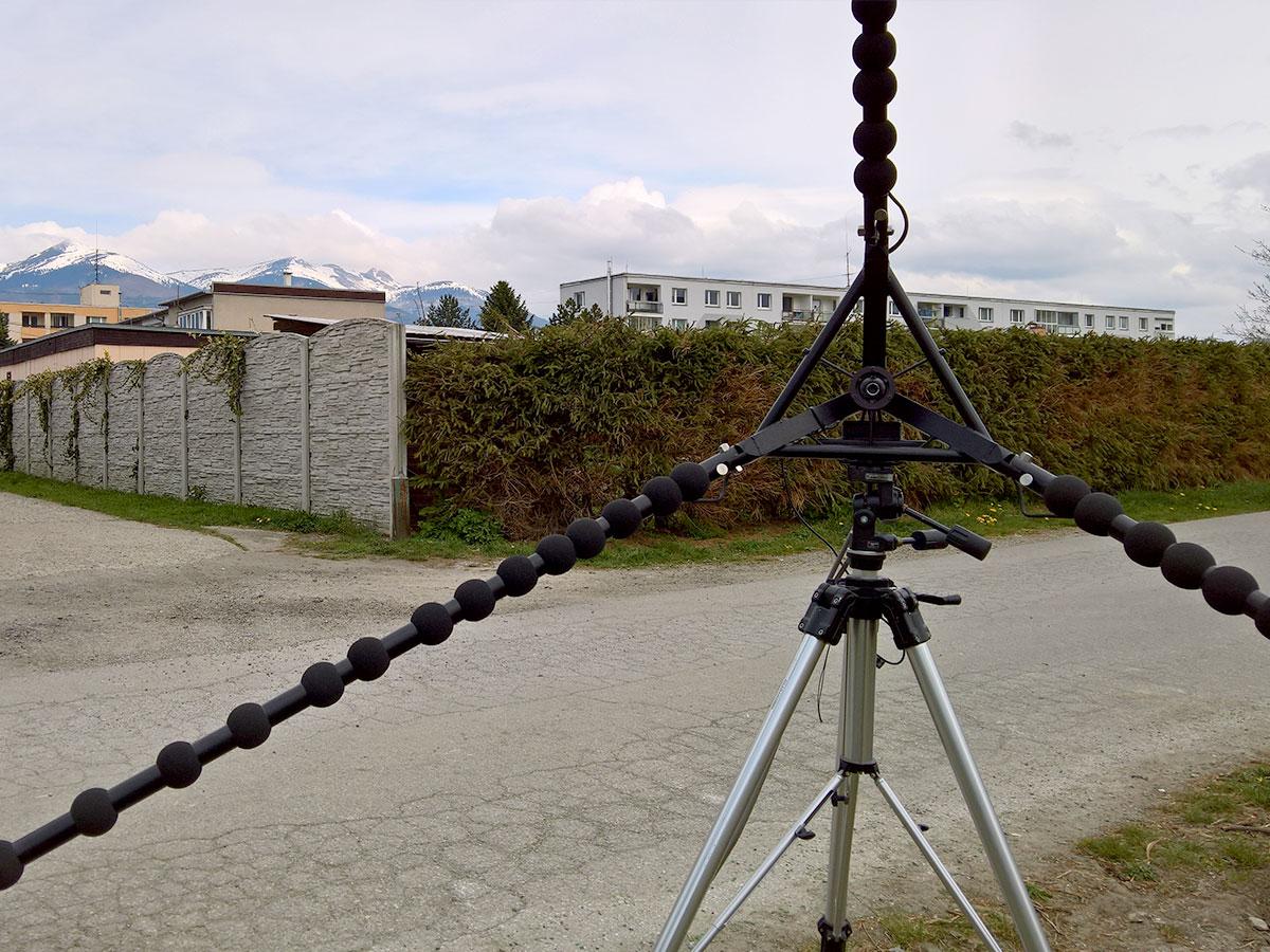 Zobrazenie akustickej kamery