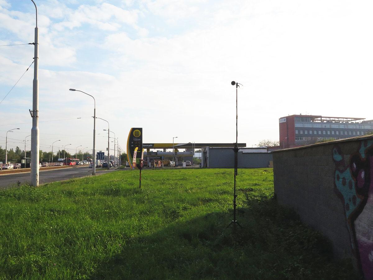 Meranie hluku z pozemnej dopravy mestskej radiály