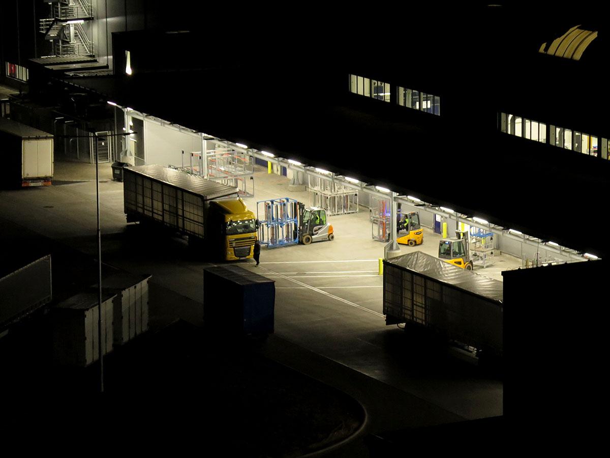 Meranie hluku počas zásobovania v nočnom časovom úseku