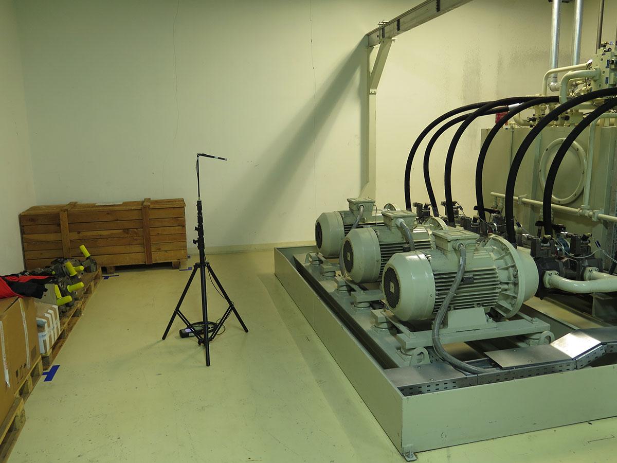 Meranie hluku z hydraulického agregátu pre pohon vysokotlakových púmp