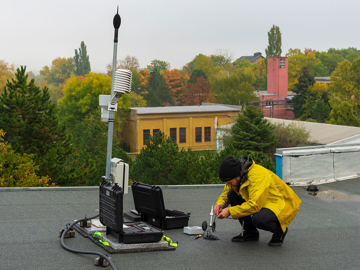 Pravidelná údržba monitorovacej stanice